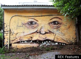 Street artist Nikita Nomerz gives walls something of a face lift