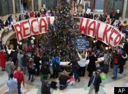 Gov. Scott Walker might face a recall campaign this spring. Opponents of the governor gathered late last year to support a petition drive to put Walker's recall on the ballot.