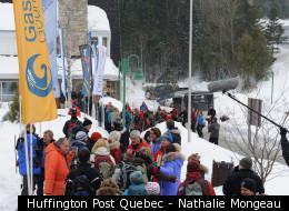 L'arrivée des skieurs au Gîte du Mont-Albert. (Photo: Nathalie Mongeau)