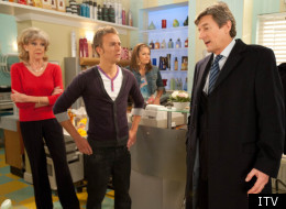 David Platt is furious when Lewis Archer turns up to see Audrey Roberts