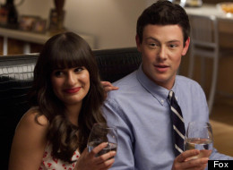 Lea Michele and Cory Monteith from