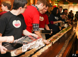 UK's Biggest Burrito Made By Bristol Students