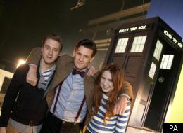Doctor Who team Matt Smith, Karen Gillan and Arthur Darvill reunited, but not for long