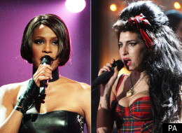 Whitney Houston and Amy Winehouse were remembered at last night's Brit Awards