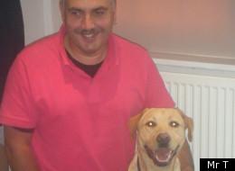 Jon Prashar and his dog, Mr T