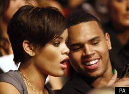 Rihanna and Chris Brown, in less controversial times, in 2008
