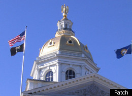 The dome of the New Hampshire Statehouse in Concord.