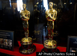 The Oscar statuettes that will be presented to the Best Actor and Best Actress winners at the 84th Academy Awards are displayed at the opening of the Meet the Oscars exhibit at Grand Central Terminal in New York, Wednesday, Feb. 22, 2012.