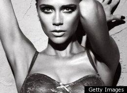 Victoria Beckham en lingerie.
