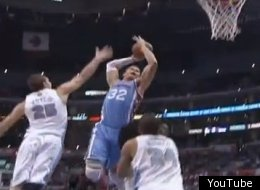 Blake Griffin dunks against the Denver Nuggets.