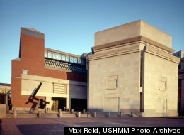 The 15th Street/Eisenhower Plaza entrance to the U.S. Holocaust Memorial Museum.