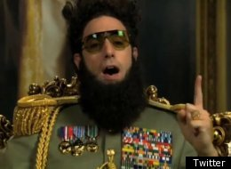 Sacha Baron Cohen aka The Dictator has expressed his outrage at the Oscars snub in a political address