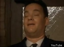It seems like every Tom Hanks movie has a scene where he gets sweet relief from urination, such as this classic moment from