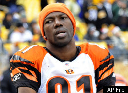 In this Dec. 12, 2010 file photo, Cincinnati Bengals wide receiver Terrell Owens looks on from the sideline during the fourth quarter of an NFL football game, against the Pittsburgh Steelers in Pittsburgh.