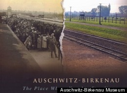 The pictures show the World War II concentration camp in 1944 and today
