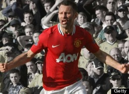 Ryan Giggs celebrates Manchester United's winner at Carrow Road on his 900th appearance