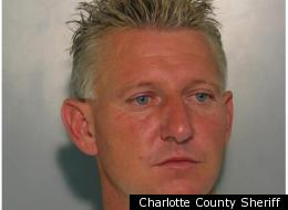 Norman Nowling, arrested Saturday for criminal mischief after he allegedly destroyed a girl's Toyota Corolla using his own large, off-road vehicle.