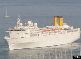 The Costa Allegra is drifting in the Indian Ocean