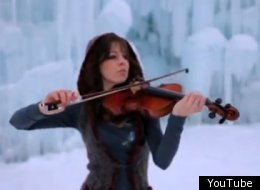 Violinist Lindsey Stirling merges classical violin with dubstep music.