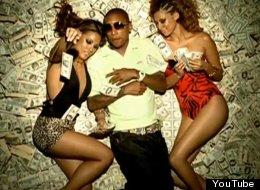 Hip-hop artist Pharrell Williams featured in Ludacris's video for