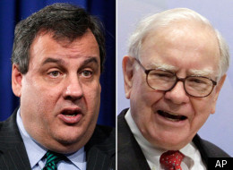 Warren Buffett hit back at Gov. Chris Christie (R-N.J.) on Monday, in response to Christie saying that Buffett should