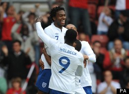 Danny boys: Sturridge and Welbeck partnered one another at the Under 21 European Championship last summer