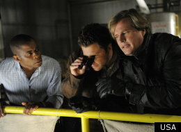Dule Hill as Gus Guster, James Roday as Shawn Spencer, Cary Elwes as Despereaux in