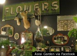 The interior of Arai Garden flower shop in Wicker Park.