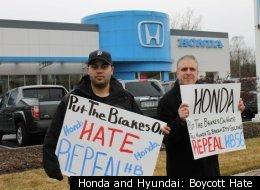 Honda and Hyundai: Boycott Hate