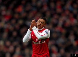 Flying high: Oxlade-Chamberlain has made a bright start to his Arsenal career, but was overlooked for the England squad