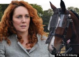 Rebekah Brooks, James Murdoch and a lovely horse