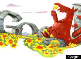 Google Doodle Welcomes Us To March With St David's Day Dragon