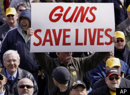 Protesters rally in support of concealed carry legislation at the Illinois state capitol in 2009. A state House committee on Wednesday advanced a proposed statewide handgun registry pushed by Chicago Mayor Rahm Emanuel.