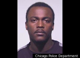 Darrick Sharkey, of Chicago, allegedly threw his girlfriend's dog off his back porch during an argument.