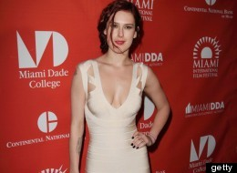 Rumer Willis's latest display of ample cleavage proves that modesty is out and boobs are back.  (Alexander Tamargo, Getty Images)