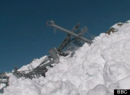 Skiers filmed the chaotic aftermath of an avalanche that wiped out lifts at a resort in the Savoie region of France. (BBC)