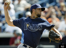 James Shields threw two perfect innings as the Rays beat the Yanks in a spring training game.