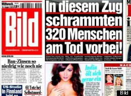 Thanks for the mammaries! Bild won't run topless models on its front page anymore. Here's your last look (sort of)!