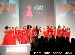 Canadian celebrities hit the runway in red for The Heart Truth Fashion Show on Thursday March 8.