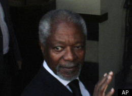 Kofi Annan arrived in Damascus for talks on ending the violence