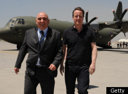 Sir William Patey with David Cameron in Kabul