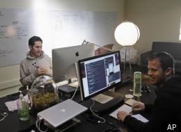 Instagram CEO Kevin Systrom, at left, in April 2011, in San Francisco.