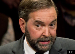 NDP leadership contender Thomas Mulcair was accused by his fellow competitors Sunday of turning his back on his party for trying to reach out and appeal to new voters. (Darryl Dyck, CP)
