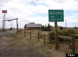 This photo of Buford, Wyo., was taken in 2005, when the town's population was two people.