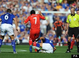 Jack Rodwell's tackle on Luis Suarez saw him controversially sent off earlier this season