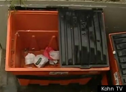 The fingers were discovered in a Ziploc bag in these bins outside the Kukui Gardens Housing Complex in Liliha, last month