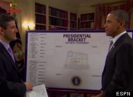 Obama reveals his picks with ESPN's Andy Katz.