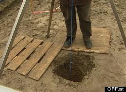 An Austrian farmer found this hole, which he thinks contains a spacecraft.