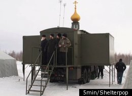 Russian military leaders are reportedly making a flying church that can be air-dropped into war zones along with a group of paratrooper priests.