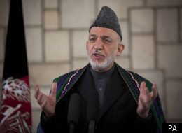 Hamid Karzai has called for a transfer of authority to Afghan troops